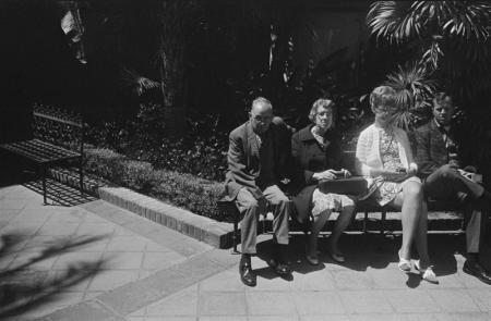 1970 San Diego people sitting on bench.jpg