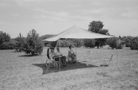 1979 Under shade tarp campground.jpg
